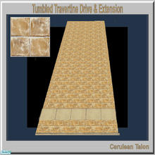 Sims 2 — Travertine & Sandstone Drive- Tumbled Travertine by Cerulean Talon — Sturdy and beautiful, drives and