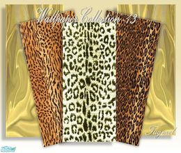 Sims 2 — Tgm-Wallpaper Set-13 by TugmeL — This set has 5 animals and curtain pattern Wallpaper, Cost:5