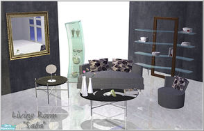 Sims 2 — Living room_Saba by Birgit43 — living room furniture inspired by Saba with bed addition