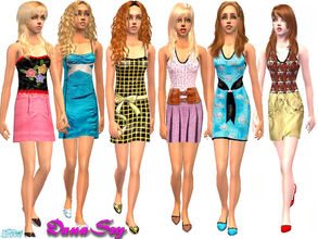 Sims 2 — Mix Set by danaszy — A nice set of 6 easy care outfits for adult female