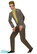 Sims 1 — Bold Gold --Fit by frisbud — Based on the fashion #1436 Bold Gold by Mattel. This casual suit for Ken gets a
