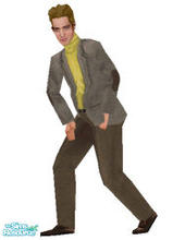 Sims 1 — Bold Gold --Fat by frisbud — Based on the fashion #1436 Bold Gold by Mattel. This casual suit for Ken gets a