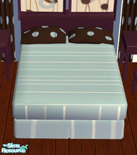 Sims 2 — Sarah\'s Dot Bedroom Set Bed by lisa9999 — A chocolate newengland style bed.
