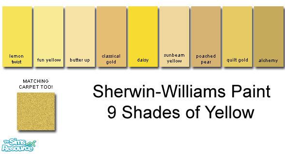 Rebelxgirl S Sherwin Williams Yellow Collection