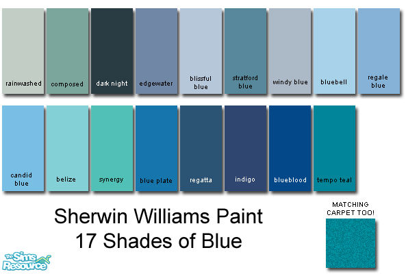 rebelxgirl 39 s sherwin williams blue collection