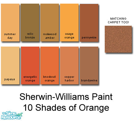 Rebelxgirl S Sherwin Williams Orange Collection