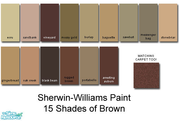 rebelxgirl's Sherwin-Williams Brown Collection