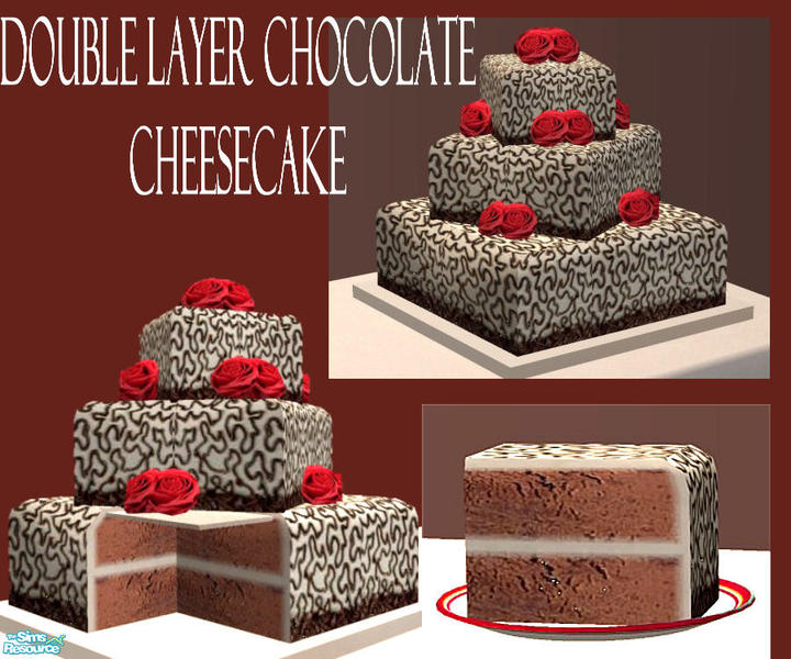 Eris3000 S Double Layer Chocolate Wedding Cheesecake