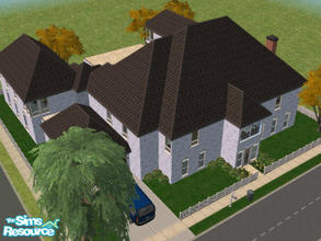 Sims 2 — 20 Chesley Way by Cali95678 — My first attempt at something fancier...and larger. 2 Story home...4 bedrooms and