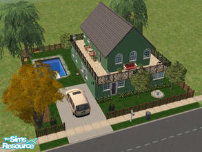 Sims 2 — 105 Parry by Cali95678 — A nice starter home for your sims. Two story, 2 bdrm, 2 bath, skills and car included.