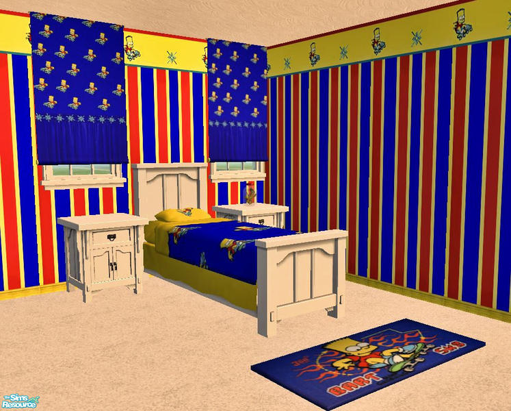 miss simpleton 39 s bart simpson bedroom set by simpleton