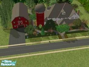 Sims 2 — 7896 Farm Lane by liberty — I build the farm house after a episode of Extreme Makeover Home edition. You could