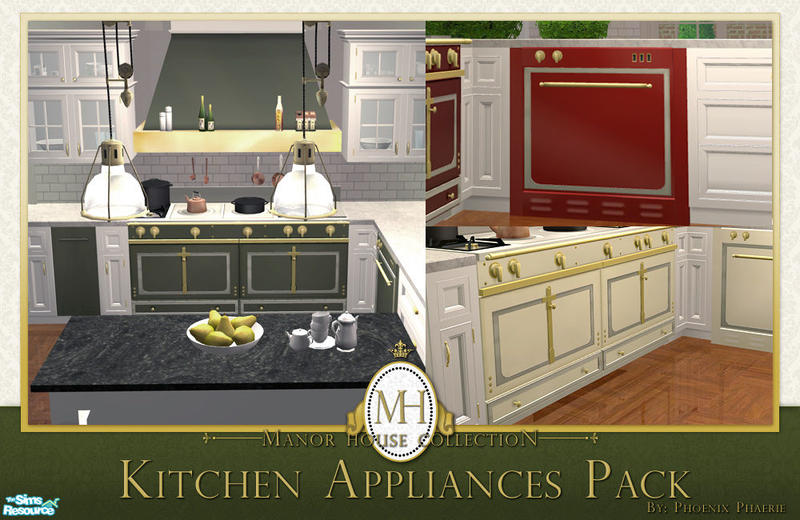 Phoenix phaerie 39 s manor house collection kitchen for Sims 2 kitchen ideas