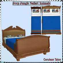 Sims 2 — Jeep Jungle Safari Animals - Bed by Cerulean Talon — If your young Sim wants to live in the jungle they will