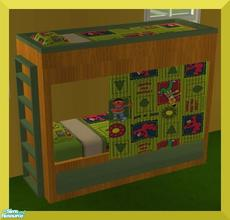 Sims 2 — Imagination Bedroom- Elmo- Bed by mom_of2boyz — Imagination bedroom RC- Elmo. The painting is from her Marua