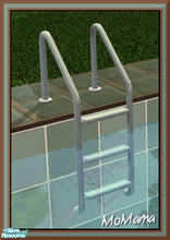 Sims 2 — NK Green Outdoor Set - Pool Ladder by MoMama — A pool ladder of silver and pale green.