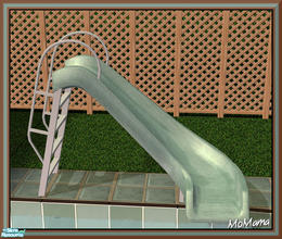 Sims 2 — NK Green Outdoor Set - Pool Slide by MoMama — A pool slide of pale green. Great fun in the sun.