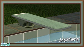 Sims 2 — NK Green Outdoor Set - Diving Board by MoMama — A diving board in a restful Pale Green.