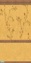 Sims 2 — Star-Vine walls and carpet-4 by katalina — Delicate vines with stars in a Tuscan gold background. Enjoy!