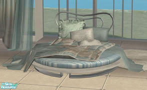 Sims 2 — Sip-bedroom6-RC-Summer variant - bed by Tanchi —