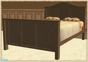 Sims 2 — Angels Bedroom RC- Bed by mom_of2boyz — Angels Bedroom recolored in a dark wood, with neutral colors and