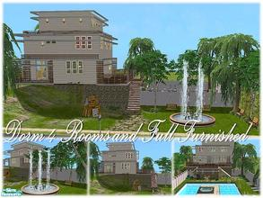 "Sims 2 — Tgm-Lot-83 (Dorm 4 Rooms) by TugmeL — Dorm 4 rooms and Full furnished!! **Please ""Installation"