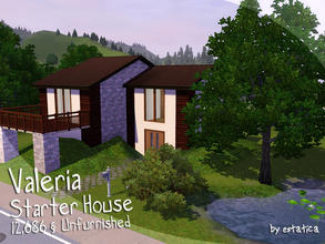 Sims 3 — Valeria Starter House by estatica — Completely unfurnished, this house can be a great start for your families!