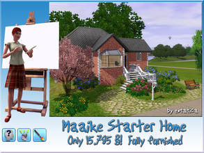 Sims 3 — Maaike Starter House by estatica — This traditional home is a great start for brilliant, artistic Sims who want
