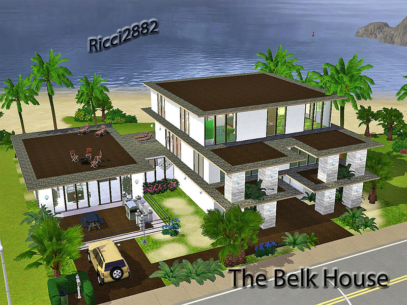 Thenumberswoman 39 s belk house for Sims 3 houses plans