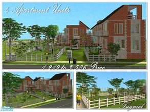 Sims 2 — Tgm-lot-75 (Apartment) by TugmeL — 4 Units and furnished waiting for you!.. Open to public use as a Children\'s