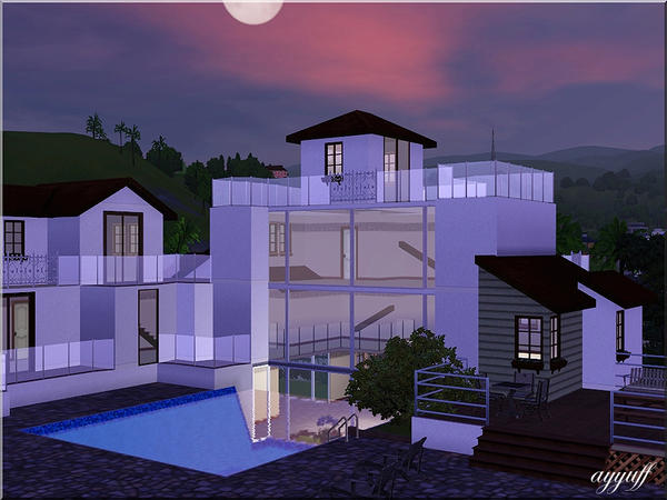 ayyuff 39 s villa de luxe with aquarium pool. Black Bedroom Furniture Sets. Home Design Ideas