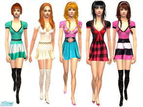 Sims 2 — Summery Dresses by danaszy — A nice dresses for adult female. Thanks for wonderful mesh by LianaSims 2