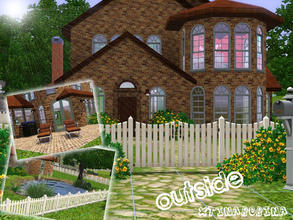 Sims 3 — Le Bon Terre by xtinabobina — As my own home in the Sims 3, Le Bon Terre has 2 (or 3) bedrooms, 2 baths, a