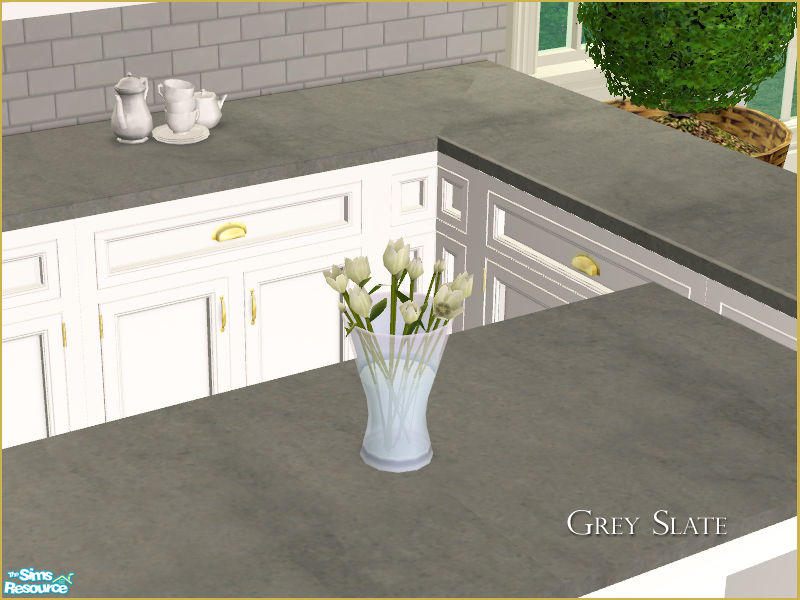 MH Kitchen Countertop Recolor   Grey Slate