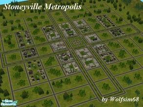Sims 2 — Stoneyville Metropolis by Wolfsim68 — Stoneyville Metropolis is the latest development in the Stoneyville