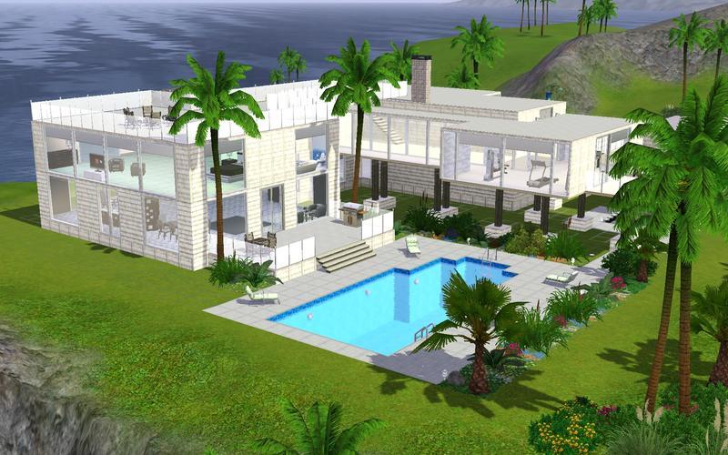 Sims3 - modern beach haus 1.0.