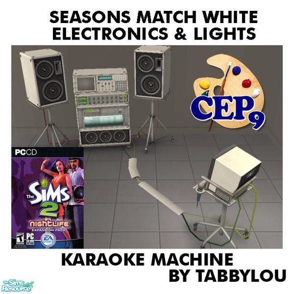 karaoke machine at