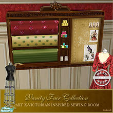 Sims 2 — Vanity Fair Sewing Room - Sewing Shelf Mesh by Cashcraft — A favorite pastime for Victorian Ladies--sewing! Part