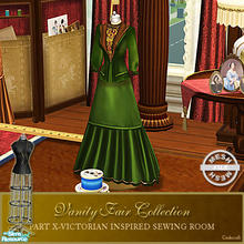 Sims 2 — Vanity Fair Sewing Room - Small Dressform Mesh by Cashcraft — A favorite pastime for Victorian Ladies--sewing!