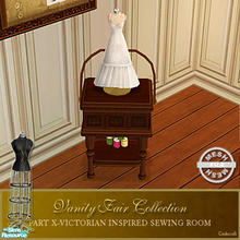 Sims 2 — Vanity Fair Sewing Room - Sewingbasket Mesh by Cashcraft — A favorite pastime for Victorian Ladies--sewing! Part