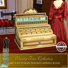 Sims 2 — Vanity Fair Sewing Room - Cash Register Base Mesh by Cashcraft — A favorite pastime for Victorian