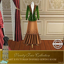 Sims 2 — Vanity Fair Sewing Room - Dressform002 Mesh by Cashcraft — A favorite pastime for Victorian Ladies--sewing! Part