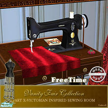 Sims 2 — Vanity Fair Sewing Room - Sewing machine Mesh FT by Cashcraft — A favorite pastime for Victorian Ladies--sewing!