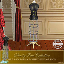 Sims 2 — Vanity Fair Sewing Room - Dressform004 Mesh by Cashcraft — A favorite pastime for Victorian Ladies--sewing! Part
