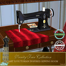 Sims 2 — Vanity Fair Sewing Room - Sewing machine Mesh BV by Cashcraft — A favorite pastime for Victorian Ladies--sewing!
