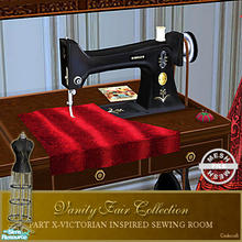 Sims 2 — Vanity Fair Sewing Room - Sewing machine Mesh Base by Cashcraft — A favorite pastime for Victorian