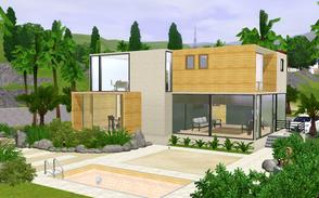 Sims 3 — VENT House by BrooksHalten — A beautiful beach home with fantastic views of the ocean!Created with a minimalist