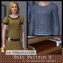 Sims 3 — Knit Pattern 9 by Simaddict99 — Cable knit pattern. Use on sweaters, jackets and even bedding for a cozy,