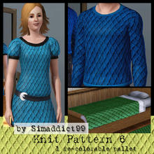 Sims 3 — Knit Pattern 6 by Simaddict99 — Raised diamond knit pattern. Use on sweaters, jackets or even bedding for a warm