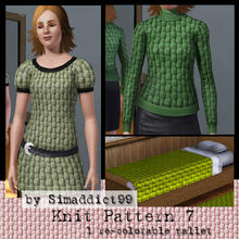 Sims 3 — Knit Pattern 7 by Simaddict99 — Basket weave knit pattern. Use on sweaters, jackets and even bedding for a cozy,